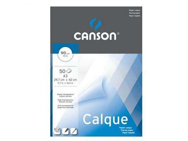 Transparentpapier Canson Calque A3 50 Blatt 90g/qm