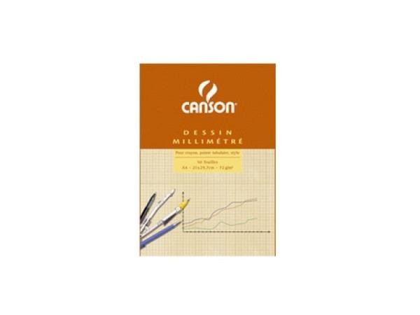 Millimeterpapier Canson A4 90g blau/weiss 50 Blatt