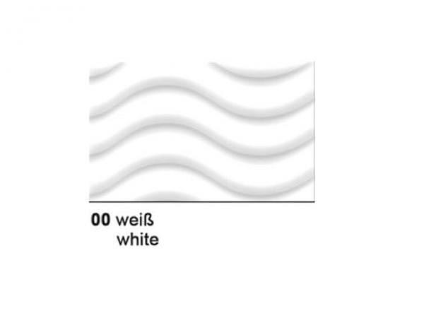 Wellkarton 50x70cm 3D weiss