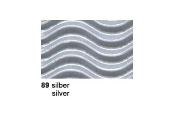 Wellkarton 50x70cm 3D silber
