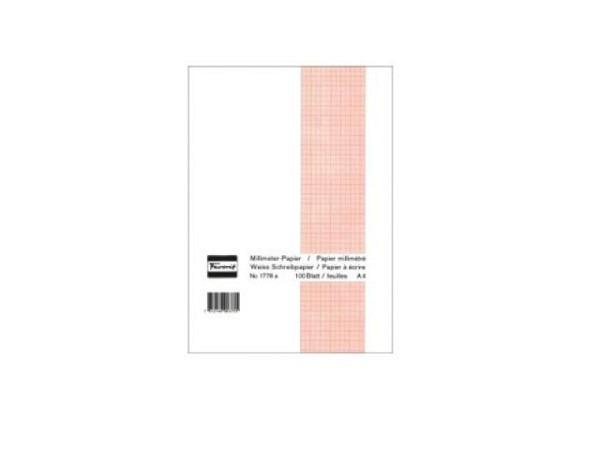 Millimeterpapier Favorit A4 braun 80gm