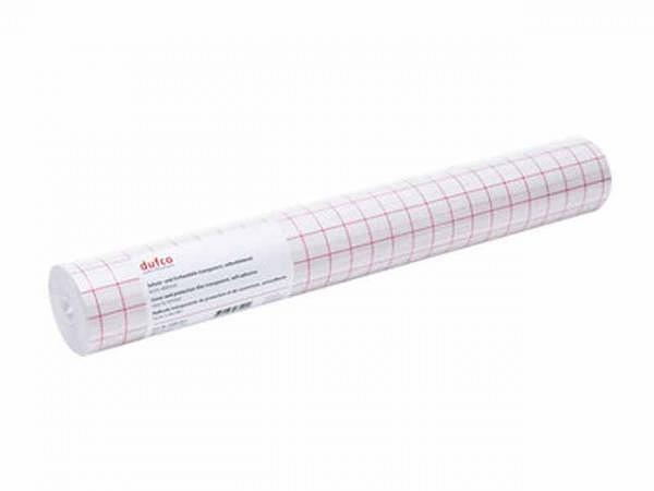 Folie Dufco transparent 50cmx5m, aus PVC mit geringer Anfangshaftung..