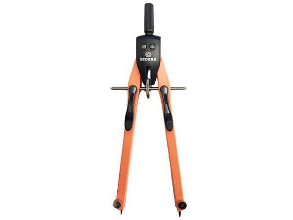 Zirkel Ecobra Duo-Tec orange mit schwarzer Halterung