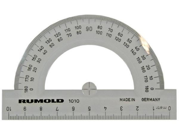 Winkelmesser Rumold 180Grad Massstab 10cm lange mit Skala