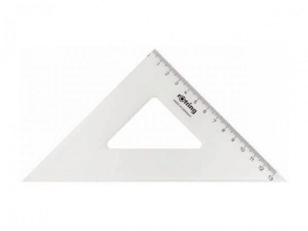 Winkel Akryla 45Grad 26cm ohne Skala mit TK
