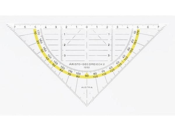Winkel Aristo 16cm 1552 Plexiglas, Facette auf allen Seiten