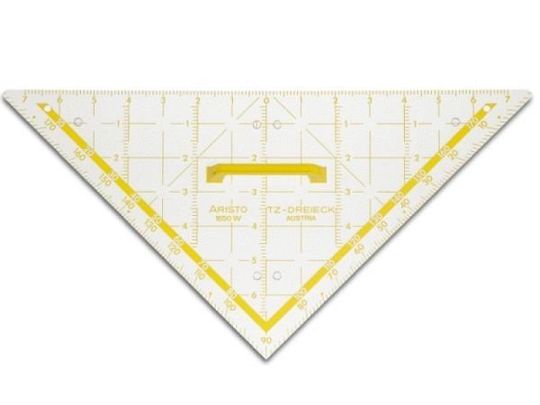 Winkel Aristo 22,5cm 1650/3 Plexiglas Facette an Hypothenuse