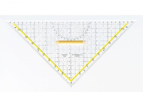 Winkel Aristo 32cm 1648/2 Plexiglas Facette an Hypotenuse