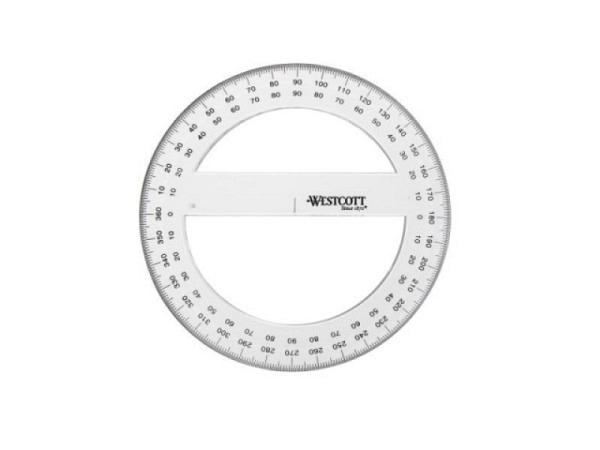 Winkelmesser Westcott Kreis 360Grad 15cm Durchmesser