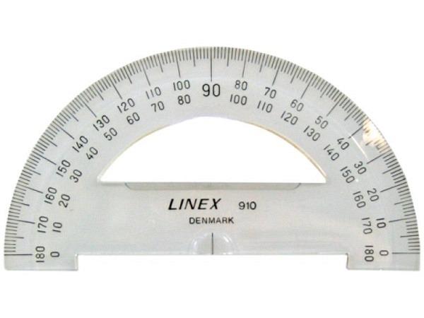 Winkelmesser Linex Dunilon 180Grad D: 10cm mit Ausschnitt
