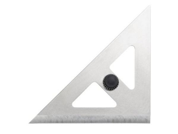 Winkel Rumold Stahl 273a 45-Grad-Winkel ohne Masseinteilung, 32,4cm lange Hypotenuse