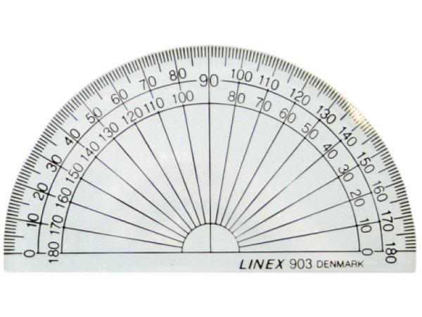 Winkelmesser Linex Dunilon 180Grad D: 10cm ohne Ausschnitt