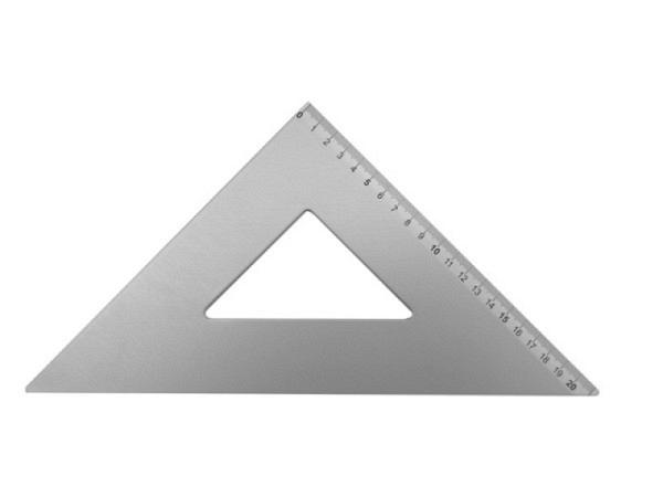Winkel Leniar Alu 45Grad Hypotenuse 21cm mit Skala