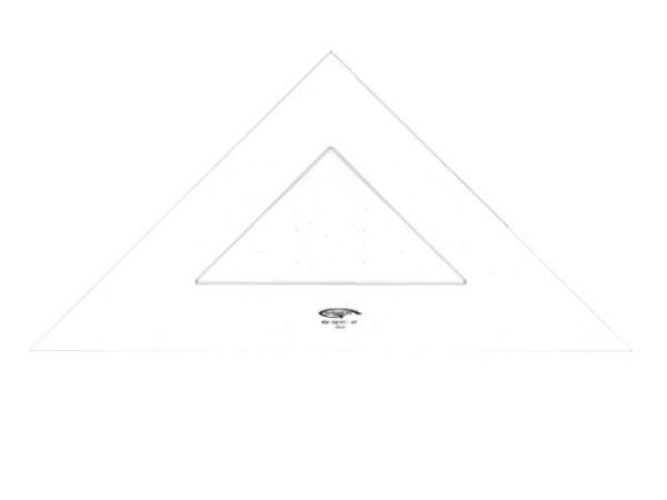 Winkel DFH Junior 45Grad 25cm Hypotenuse, Skala auf Kathete