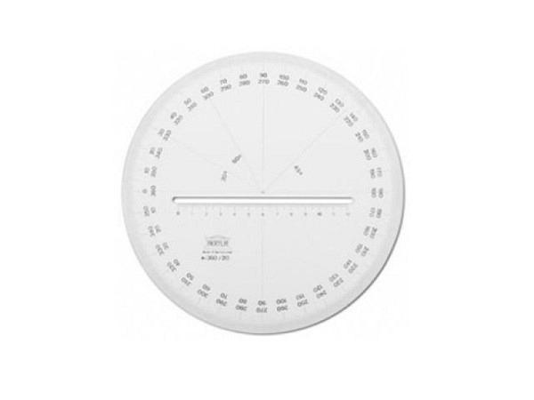 Winkelmesser DFH Junior 180Grad D: 10cm mit Skala