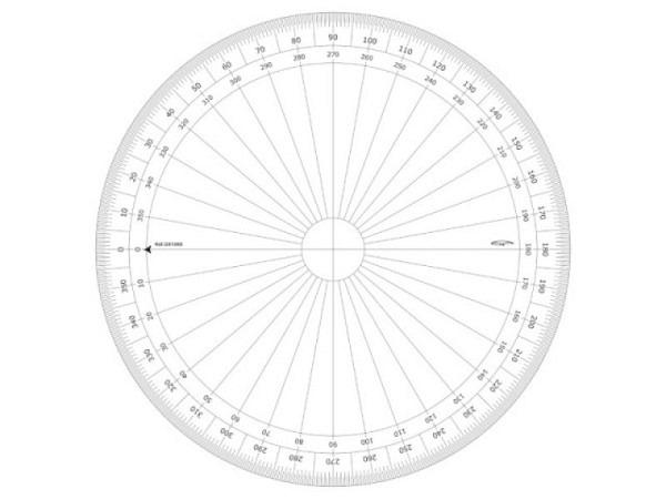 Winkelmesser DFH Junior 360Grad D: 10cm, mit Skala