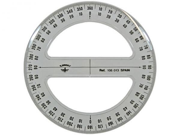 Winkelmesser DFH Junior 360Grad D: 13cm, mit Skala
