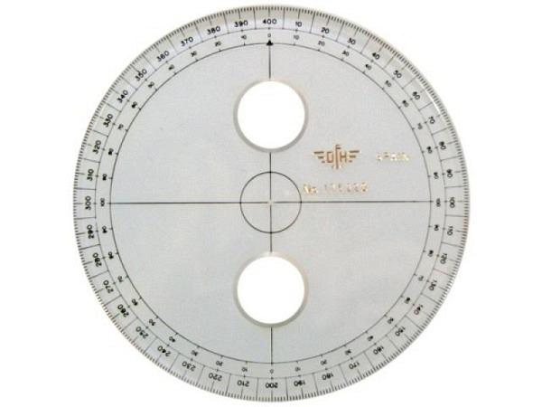 Winkelmesser DFH Akryl 400Neugrad D: 10cm mit Skala