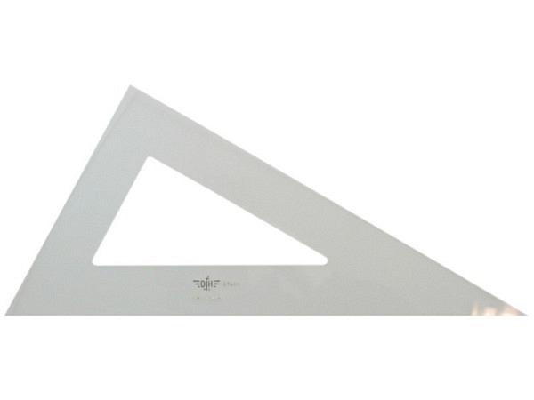 Winkel DFH Akryl 60Grad 30cm lange Kathete, ohne Skala