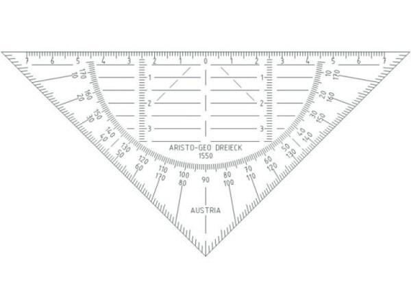 Winkel Aristo biegsam 16cm 1550 , Hypotenuse 16cm lang