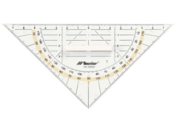 Winkel Leniar Geodreieck 16cm ohne Griff transparent 180Grad