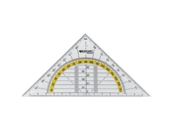 Winkel Akryla 60Grad 42cm ohne Skala mit Tuschkante, 101/42