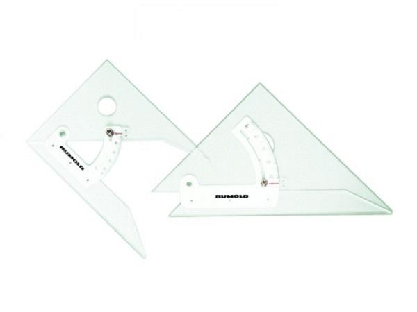 Winkel Rumold  30cm verstellbar, aus Pleixglas, 3,5mm stark