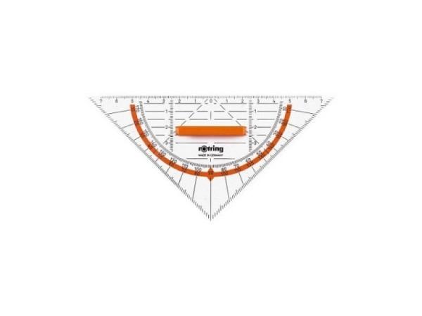 Winkel Rotring Centro Geodreieck 16cm, glasklarer Kunststoff