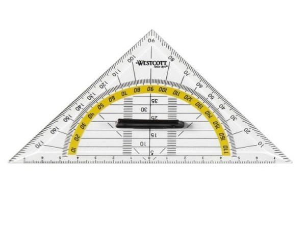 Winkel Westcott Geodreieck 14cm mit abnehmbarem Griff