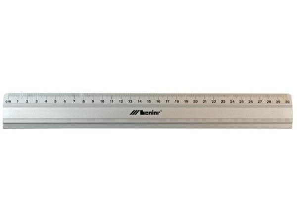 Schneidmassstab Leniar 100cm ohne Stahleinlage grau