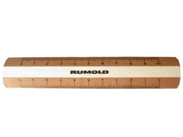 Massstab Rumold Holz Bicolor 10cm Buche und Birnbaumholz