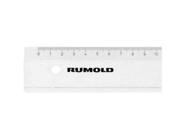Massstab Rumold Kunststoff 30cm transparent, Skala weiss