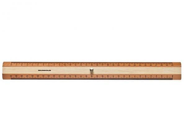 Massstab Rumold Holz 30cm Buche natur, beidseitige Skala
