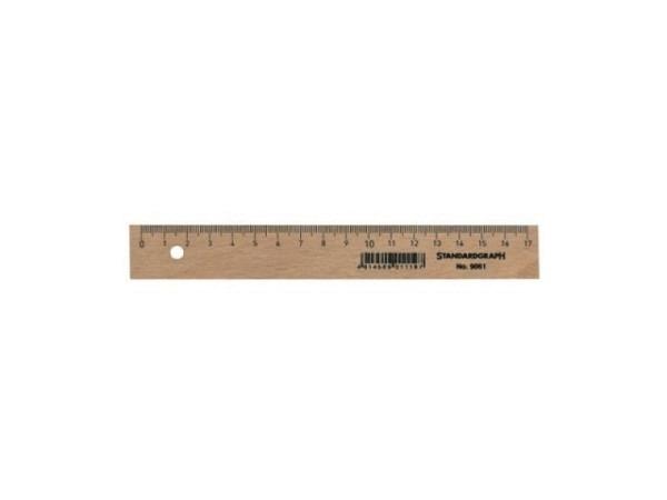 Massstab Standardgraph Holz natur 17cm
