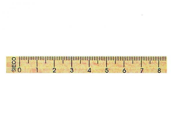 Lineal Sieco Holz mit Skala 30cm lang