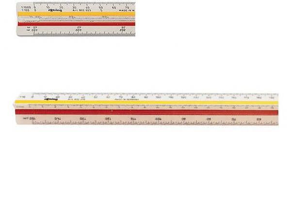 Massstab DFH Akryl 4mm dick 40cm, geprägte Skala