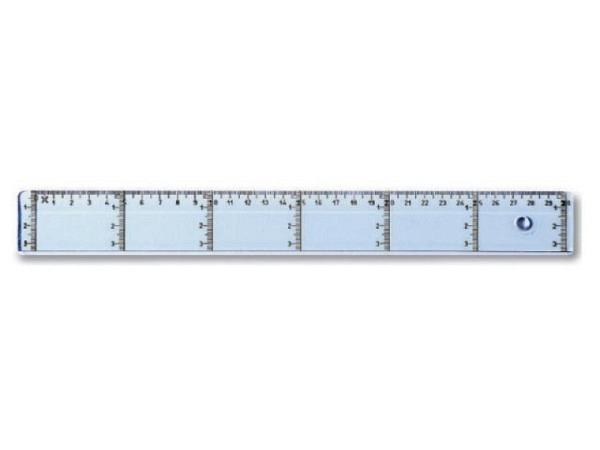 Massstab Arda Uni 20cm mit zusätzlicher Vertikalskala