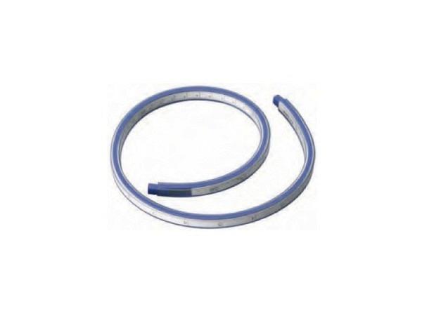 Kurvenlineal Alco 50cm mit Skala Millimeter, Tuschkante