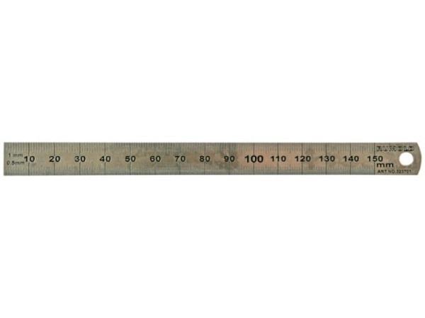 Schneidmassstab Rumold breit 30cm aus rostfreiem Edelstahl