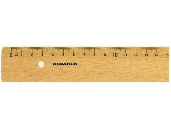 Massstab Rumold Holz natur 30cm geprägte Skala schwarz