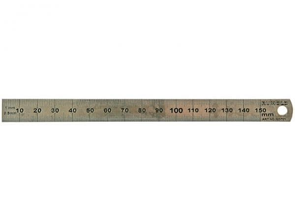 Schneidmassstab Rumold dünn 50cm aus rostfreiem Edelstahl