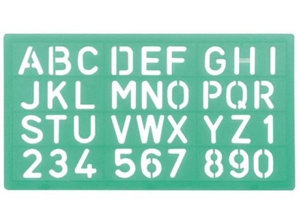 Schriftschablone Linex 100mm 85100 Grossbuchstaben Zahlen