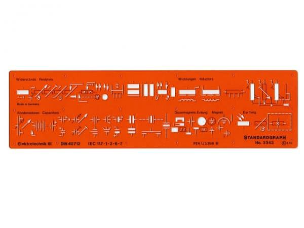 Schablone Standardgraph Elektrotechnik III 3343, DIN 40712