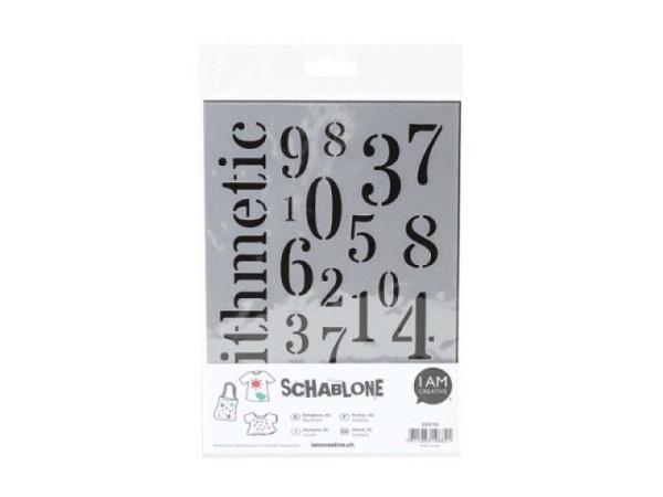 Schriftschablone Linex 20mm 8520 Grossbuchstaben und Zahlen