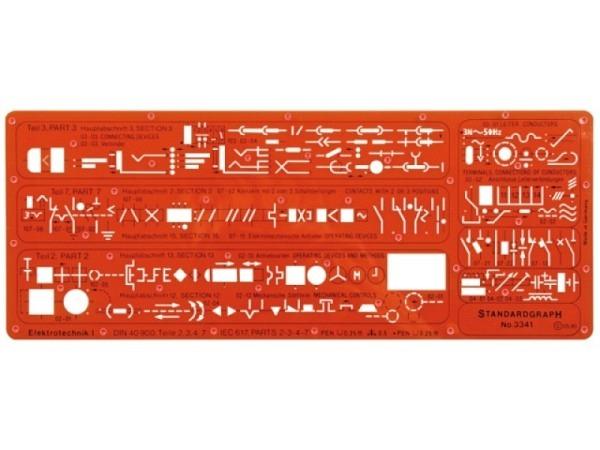 Schablone Standardgraph Elektrotechnik I 3341, DIN 40900