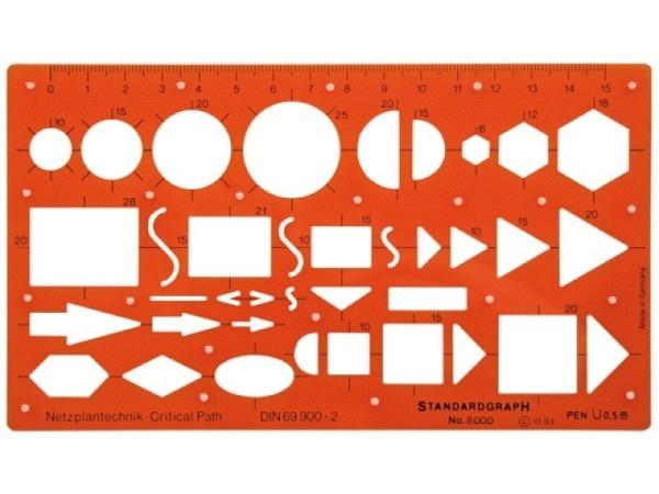 Schablone Standardgraph Netzplantechnik 8000 DIN 69900-2