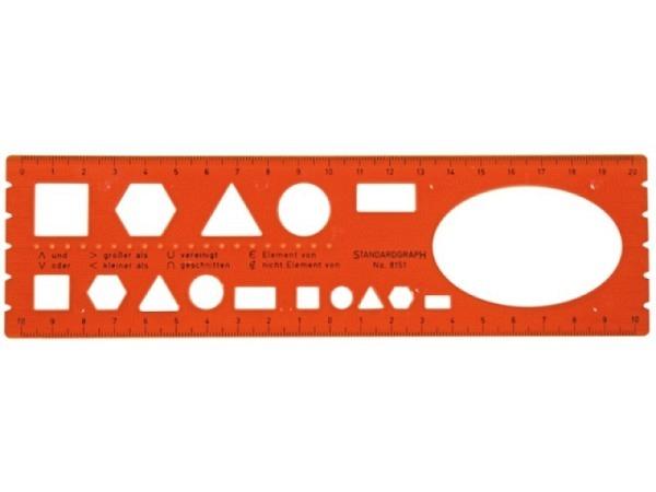 Schablone Standardgraph Mengenlehre 8151