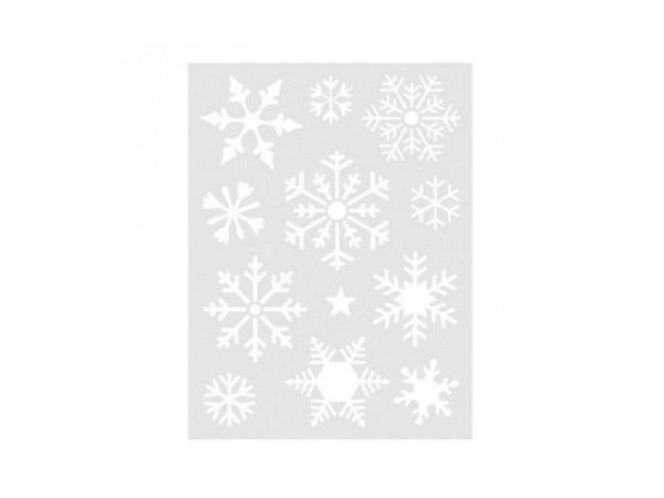 Schablone Rico Design mittelgross Schneeflocken