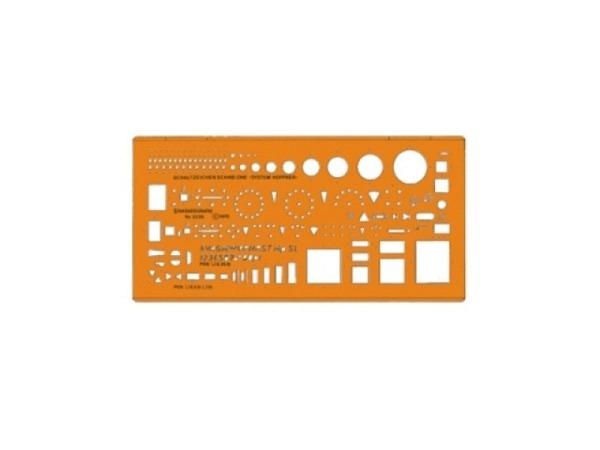 Schablone Standardgraph Schaltzeichen-Schablone 3336
