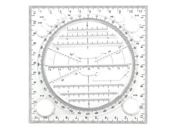 Schablone DFH isometrische Ellipsen 5-45mm